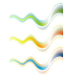 Abstract colorful waves background vector