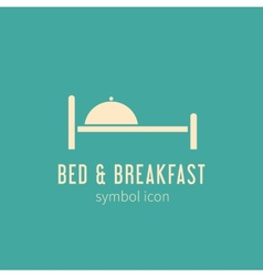 Bed and breakfast concept symbol icon or logo vector