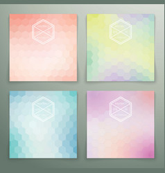 Abstract hexagon background set vector image