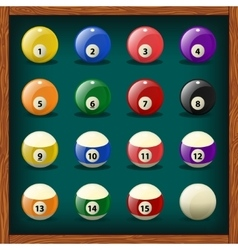 Complete set of balls for pool vector