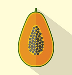 Flat design papaya icon vector