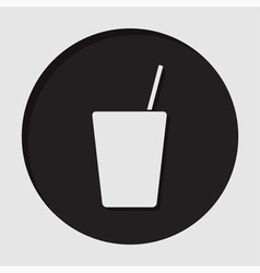 Information icon - drink with straw vector
