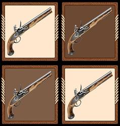 Icon pirate pistol vector