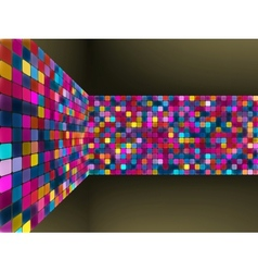Abstract glowing mosaic background vector