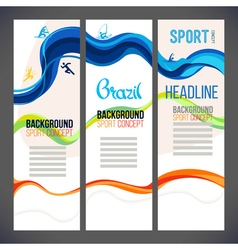 Sport abstract template design brochure web sites vector