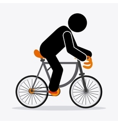 Classic bicycle bike and pictogram icon sport vector