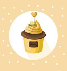 banana cupcake muffin dessert vector image vector image