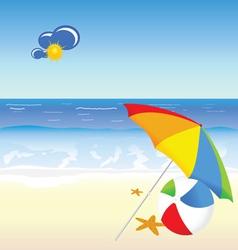 Beach beauty cartoon art vector
