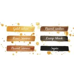 Beautiful dark watercolor elements for design vector image vector image