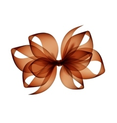 Brown bow top view close up on background vector