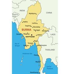 Burma - map vector