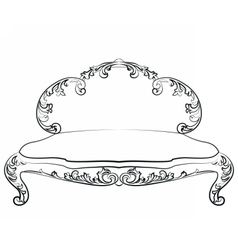 Classic royal sofa with ornaments vector image vector image