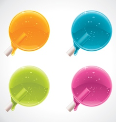 Colorful lollipops vector