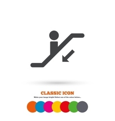Escalator staircase icon Elevator moving stair vector image