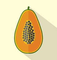 Flat Design Papaya Icon vector image