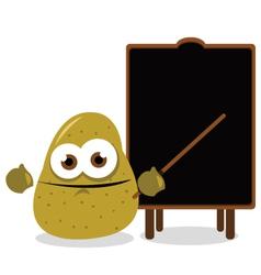 funny potato and a blackboard vector image