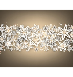 Gray winter background with snowflakes vector