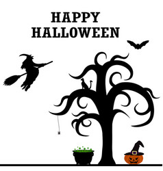 halloween patty silhouettes vector image