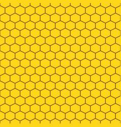 honeycomb yellow seamless pattern vector image vector image
