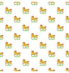 Horse rocking pattern cartoon style vector