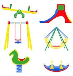 Icons children teeter vector