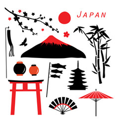 japan travel icon vector image vector image