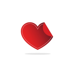 love heart logo and icon vector image vector image