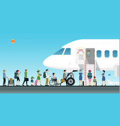 low cost airline vector image