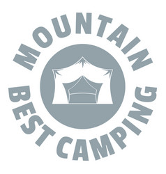 mountain best camping logo vintage style vector image