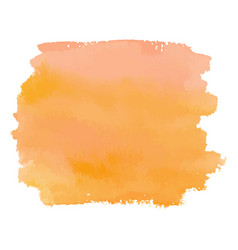 Orange color watercolor hand drawn gradient banner vector