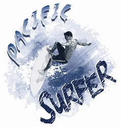 Pacific surfer vector image