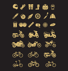 Racing motorcycle bicycle motorbike parts and vector