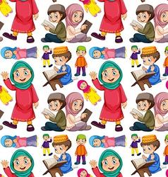 Seamless muslim vector image