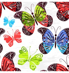 Spring grunge seamless white pattern vector