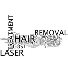 The cost of laser hair removal text background vector
