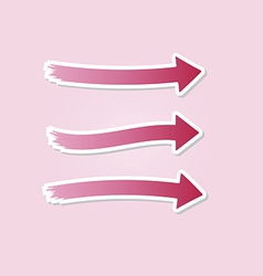 three different red arrows vector image vector image