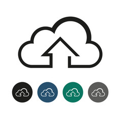 upload to cloud outline graphic vector image