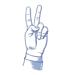 v hand vector image vector image