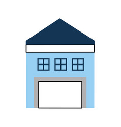 Warehouse building isolated icon vector