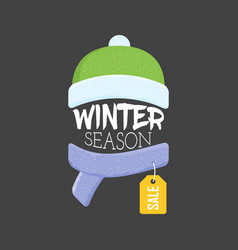 Winter sale labels and banner web banners vector