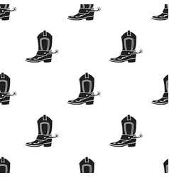 Cowboy boot icon in black style isolated on white vector