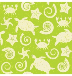 Seamless pattern with sea animals vector image