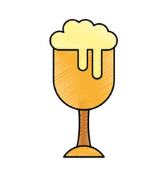 fresh beer in cup isolated icon vector image
