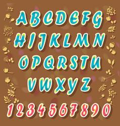 Blue watercolor alphabet vector