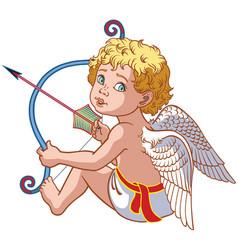 Little angel cupid vector