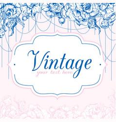 Vintage card with peonies vector