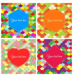 Elegant colorful paper banners vector