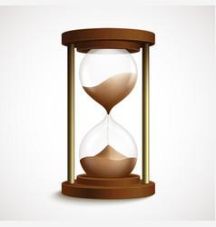 Retro hourglass clock vector image