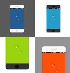 Modern phones collection vector