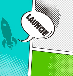 Comic template element with speech bubble and vector